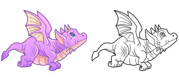 Free Cute Dragon Began Its First Flight Stock Images - 85180864