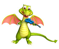 Cute Dragon cartoon character Royalty Free Stock Photos