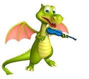 Cute Dragon cartoon character Royalty Free Stock Image