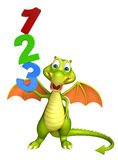 Cute Dragon cartoon character with 123 sign. 3d rendered illustration of Dragon cartoon character with 123 sign vector illustration