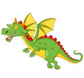 Cute dragon cartoon flying Royalty Free Stock Photos