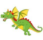Cute dragon cartoon flying Royalty Free Stock Photos