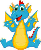 Cute dragon cartoon Stock Images