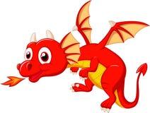 Cute dragon cartoon Stock Image