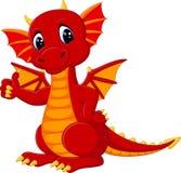 Cute dragon cartoon Stock Images