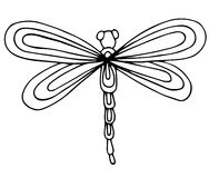 Cute dragon fly isolated on the white background Stock Photos