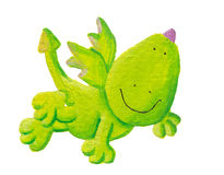 Cute dragon flying Royalty Free Stock Photography