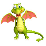 Cute Dragon funny cartoon character Royalty Free Stock Photo