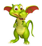 Cute Dragon funny cartoon character Stock Photo