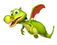Cute Dragon funny cartoon character Royalty Free Stock Image