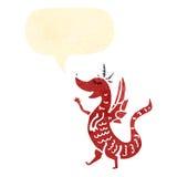 cute dragon retro cartoon Stock Photography