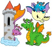 Cute dragons collection Royalty Free Stock Image