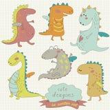 Cute dragons Royalty Free Stock Photos