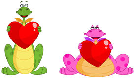 Cute dragons valentine Royalty Free Stock Photography