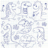 Cute dragons Royalty Free Stock Images