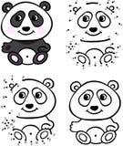 cute draw hand panda επίσης corel σύρετε το διάνυσμα απεικόνισης Χρωματισμός και σημείο για να διαστίξει το παιχνίδι Στοκ φωτογραφίες με δικαίωμα ελεύθερης χρήσης