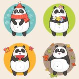 cute draw hand panda Στοκ Εικόνα