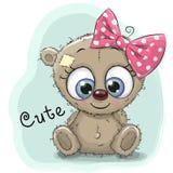 Cute Drawing bear girl Royalty Free Stock Image