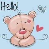 Cute Drawing Teddy Royalty Free Stock Photos