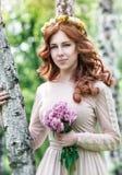 Cute dreamy bride portrait Stock Photography