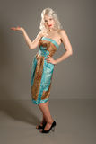cute dress fifties girl retro Στοκ φωτογραφίες με δικαίωμα ελεύθερης χρήσης