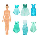 Cute dress-up doll Royalty Free Stock Images