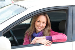 Cute driver Royalty Free Stock Image