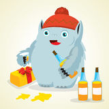 Cute drunk monster Royalty Free Stock Photography