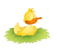 Cute Duck. Creative Abstract Conceptual Design Art of Cute Duck Vector Illustration Stock Images