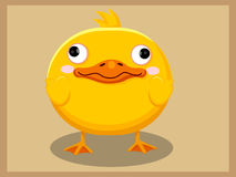 Cute Duck Cartoon. Funny cartoon and vector animal characters Royalty Free Stock Images