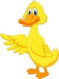 Cute duck cartoon waving Stock Image