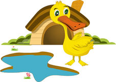 Cute duck. For kids and childen Stock Photos