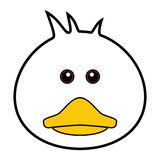 Cute Duck Vector. Cute animal faces in  (One of 25 of them Stock Image