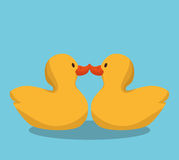 Cute ducks toy icon. Illustration design Royalty Free Stock Images