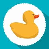 Cute ducks toy icon. Illustration design Royalty Free Stock Photo
