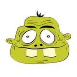 Cute dumb monster head. Illustration Stock Photography