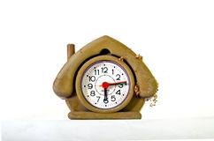 Cute dusty  house shape alarm clock Stock Images