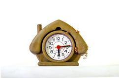 Cute dusty  house shape alarm clock Stock Images