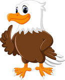 Cute eagle cartoon Royalty Free Stock Photos