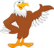 Cute eagle cartoon royalty free illustration