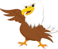Cute eagle  cartoon waving Royalty Free Stock Image