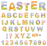 Cute easter alphabet Stock Photo