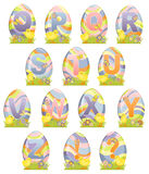 Cute Easter alphabet Royalty Free Stock Images