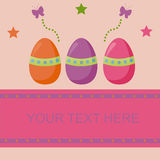 Cute easter background Stock Image