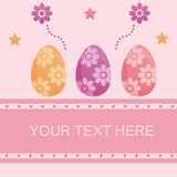 Cute easter background Royalty Free Stock Photography