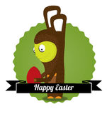 Cute easter bunny Stock Photo