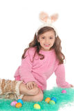 Cute Easter Bunny. With her large ears she makes a Cute Easter Bunny Royalty Free Stock Images