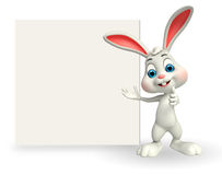 Cute Easter Bunny with big sign Stock Photo