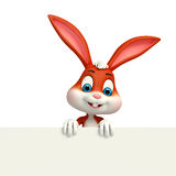 Cute Easter Bunny with big sign Stock Photography