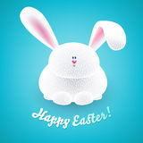 Cute easter bunny. Cheerful rabbit. Royalty Free Stock Photos